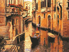 Venice Alleyway Hand Painted Design Needlepoint Canvas 346