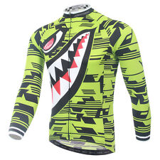 Bike Long Sleeve Wear Mens Cycling Jersey Bicycle Cycle Jacket S-5XL Shark