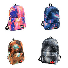 Unisex Galaxy Space Travel Rucksack Backpack Canvas Bag School Bookbag Satchel K