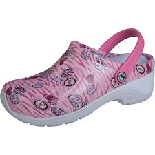Cherokee Anywear Zone Pink Breast Cancer Clogs Nurses/Doctor/Garden Shoes