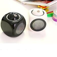 Alarm Clock Multi-function Digital LCD Voice Talking LED Projection 2 Colors