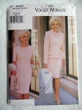 Vogue Woman 9587 Sewing Pattern Misses Jacket Dress Career Semi Fitted