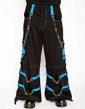 Tripp Nyc Blue Skull Rave Bondage Pants Cargo Party Goth Skater Punk Rock S-2XL