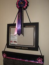 Ribbon Rosette display / wall hanger with personalised rosette and photo frame