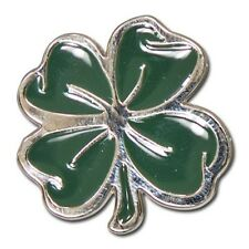 """5280-SN 1 1/8""""  Lucky 4 Leaf Clover Nickel & Green Decorative Line 24 Snaps"""