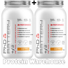 2 x 1 kg PhD Battery 1kg Pre Intra Post Workout Energy During Exercise Formula