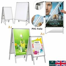 Waterproof Double Side Pavement Sign Snap Frame Poster Display Stand Board