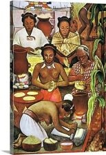 Canvas On Demand Rivera: Grinding Corn by Diego Rivera Painting Print on Canvas