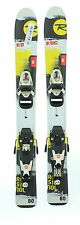 Used Rossignol Roc Junior Yellow Snow Skis with Comp Kid Bindings A