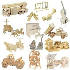 3D New Wood Craft Kit Realistic Wooden Model 3D Puzzles Children Toys Gifts
