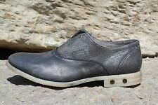 08 New Mens Diesel Chronon Cow Leather Dress Oxford Shoes Grey Size 8.5 10 $250
