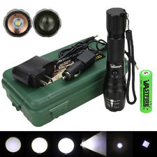 Zoom 5000Lm XML T6 LED Rechargeable 18650 Battery Military Flashlight Torch Lamp