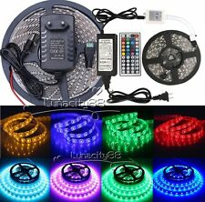 3528 5050 5630 3014 SMD 16.4FT 300LED RGB White LED Strip Light 12V Power Supply