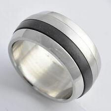 Stainless Steel titanium jewelry vintage Mens Ring size 8-9-10-11