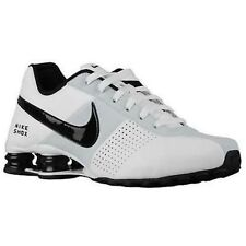 New NIKE Men's SHOX Deliver Running Shoes White/Black/Platinum 317547-128