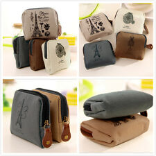 Hot Sale Women Canvas Tower Cloth Purse Wallet Card Key Coin Bag Pouch Case Gift