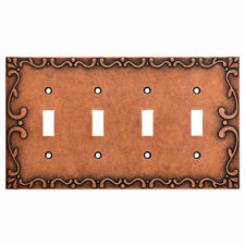 Franklin Brass Classic Lace Quad Switch Wall Plate