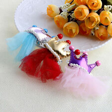 Bowknot Hairpin Dog Pet Hair Clips Princess Lace Crown Hair Pet Grooming Bow Tie