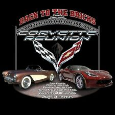 2016 Corvette Reunion @ BACK TO THE BRICKS T Shirt *NEW* 5 COLORS SIZES S-3XL