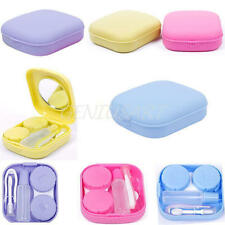 Portable Contact Lens Case Travel Kit Mirror+Bottle+Tweezers Container Holder