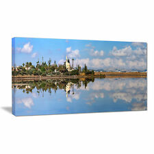 Hala Sulttan Tekke in Cyprus Panorama Photographic Print on Wrapped Canvas