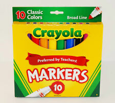 Crayola® Markers, Broad Line, 10ct - Classic Assorted Multicolor