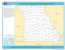 Missouri State Counties Laminated Wall Map