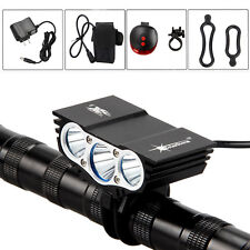 Solarstorm 10000Lm 3*CREE XML T6 LED Front Cycling Bicycle Light Lamp 6400mAh+CH