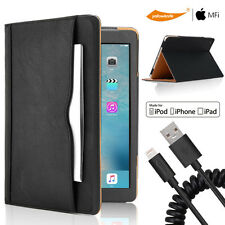 iPad Mini 1 2 3 USB Sync Charger Cable Car Charger Leather Smart Case HD Screen