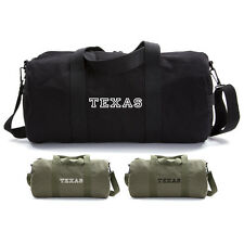 Army Force Gear TEXAS Logo Military Canvas Duffle Bag Sport Gym Duffel Carry On