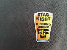 STAG Night PARTY BADGE Stickers  MEN'S NIGHT Fun  vinyl stickers BEER Stickers