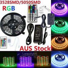LED Strip 3528/5050SMD Flexible LED Light 5M 150/300led Adapter Power IR Control