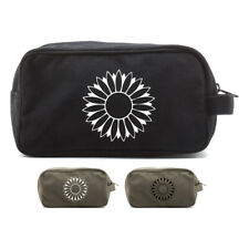 Sunflower Canvas Shower Kit Travel Toiletry Diaper Bag Case