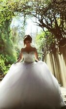 Long Sleeve Wedding Dresses Beading Crystal Ball Gown Wedding Bridal Gowns W1723