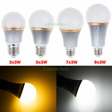 Dimmable E27 9W 15W 21W 27W LED Globe Light Bulb Spot Lamp Cool/Warm White Bulb