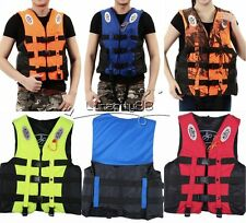 Polyester Adult Kid Life Jacket Universal Safe Swimming Boating Ski Vest+Whistle