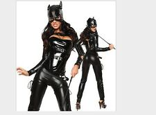 New PVC leather Wetlook catsuit lack latex style domina Costume Rompers Jumpsuit