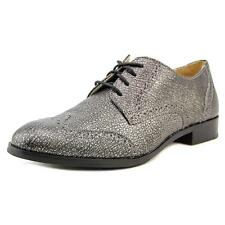 Cole Haan Jagger Wingtip Oxford Women  Wingtip Toe Leather Silver Oxford