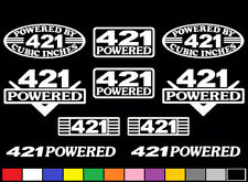 10 DECAL SET 421 CI V8 POWERED PMD SD ENGINE STICKERS EMBLEMS VINYL DECALS
