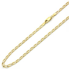 3mm 14K Yellow Gold Chain Open Link Chain Necklace / Gift box / Ship from USA