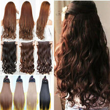 US Long Clip in on Hair Extensions Real Synthetic 100% Natural Extension USPS