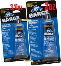 Barge All Purpose TF Cement Glue Shoe Repair Leather Rubber GL Quart 2oz 3/4oz