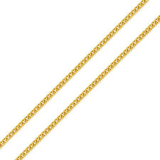 Men's 1.5mm 14K Yellow Gold Chain Light curb Chain Necklace / Gift box
