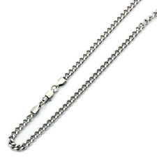 Men's 5mm Stainless Steel Chain Necklaces Cuban Link Curb Chain / Gift box