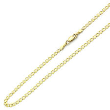 Men's 3mm 14K Two Tone Gold Chain Mariner Link Chain Necklace / Gift box