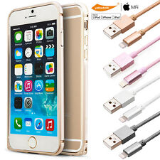 iPhone 6S+ Aluminium Bumper Tough Case Cover&Braided Charging Cable/Glass Screen