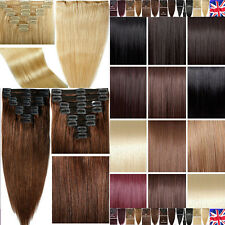 TOP Quality 100% THICK Double Weft clip in Remy Human Hair Extensions Full Head