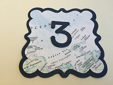 Map Travel Wedding Venue Decorations Table Numbers Bride & Groom Signs Bunting
