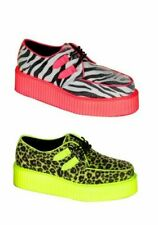 Demonia V-CREEPER-507UV Men's 2 Inch Platform Uv Vegetarian Creeper Shoe