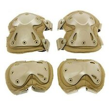 Adjustable Airsoft Tactical  Protective Knee + Elbow Pad Skate Knee Pads